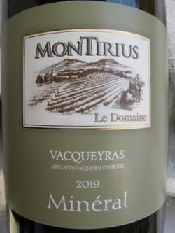 Montirius Vacqueyras Blanc 'Minéral' 2019