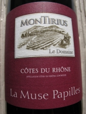Montirius Côtes du Rhône 'La Muse Papilles' 2015
