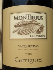 Montirius Vacqueyras 'Garrigues' 2016